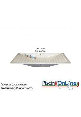 VASCA LAVA PIEDI - INGRESSO FACILITATO - IN VETRORESINA BIANCA, DIMENSIONI 200x100x20 CM