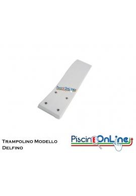 TRAMPOLINO IN VETRORESINA MT 1.80 MODELLO DELFINO COLORE BIANCO - COMPRESO ANCORAGGIO ASSE TRAMPOLINO