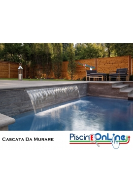CASCATA PER PISCINA IN ABS DA MURARE - MAGIC FALLS - VERSIONE DI GETTO - LAMA D'ACQUA