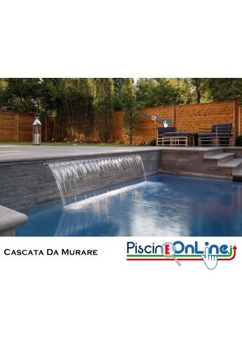 CASCATA PER PISCINA IN ABS DA MURARE - MAGIC FALLS - DUE VERSIONI DI GETTO - LAMA D'ACQUA ED EFFETTO PIOGGIA