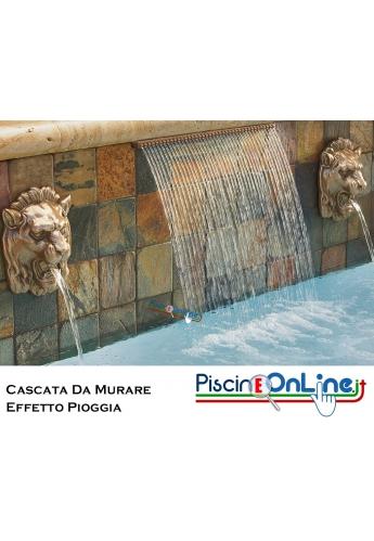CASCATA PER PISCINA IN ABS DA MURARE - MAGIC FALLS - VERSIONE DI GETTO - EFFETTO PIOGGIA