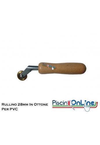 RULLINO DA 28 MM IN OTTONE PER POSA PVC ARMATO.