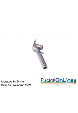 UGELLO MM 8/5 PER FETTUCCIA - ACCESSORI PER SALDATORE TELO IN PVC - LEISTER TRIAC ST