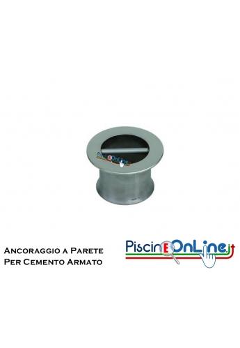ANCORAGGIO A PARETE IN ACCIAIO INOX AISI 316 PER FISSAGGIO INDICATORI E CORSIE GALLEGGIANTI