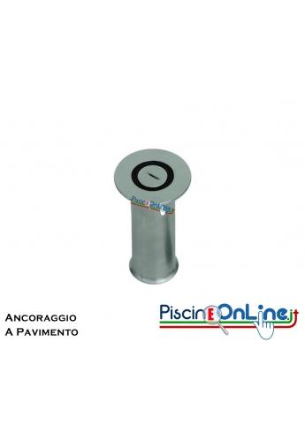 ANCORAGGIO A PAVIMENTO IN ACCIAIO INOX AISI 316 PER FISSAGGIO INDICATORI E CORSIE GALLEGGIANTI