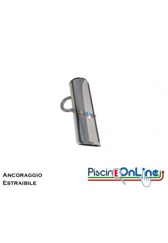 ANCORAGGIO A BAIONETTA ESTRAIBILE IN ACCIAIO INOX AISI 316 PER FISSAGGIO INDICATORI E CORSIE GALLEGGIANTI