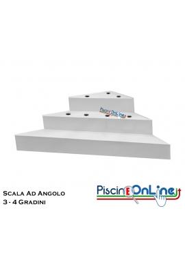 SCALA AD ANGOLO PER INTERNO PISCINA IN MONOBLOCCO - MODELLI DA 3/4 GRADINI PER POSA SOTTO LINER