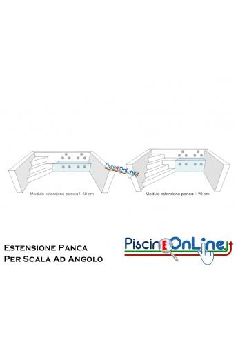 MODULO DI ESTENSIONE PANCA PER SCALA AD ANGOLO NELLE VERSIONI CON ALTEZZA 60/90 CM - DA 3 FINO A 5 METRI DI LUNGHEZZA