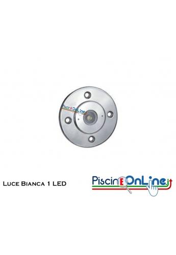 MINI PROIETTORE A LED PER PISCINA - COLORE FISSO BIANCO DA 1 E 3 SUPERLED