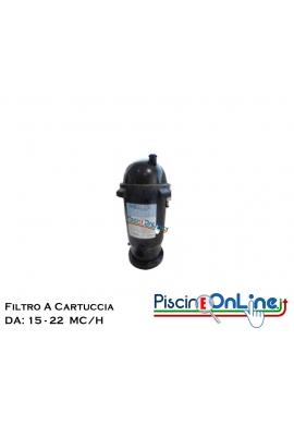 FILTRO A CARTUCCIA IN ABS TERMOPLASTICO DA 15 E 22 MC/H
