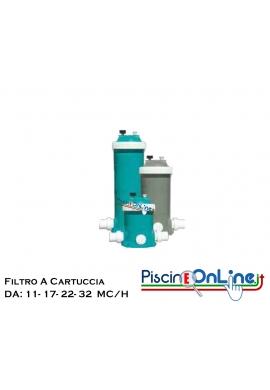 FILTRO A CARTUCCIA IN ABS TERMOPLASTICO DA 11 - 17 - 22 - 32 MC/H