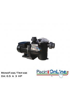 ELETTRO POMPA PER FILTRAZIONE PISCINA DA - 05 - 0.75 - 1 - 1.5 - 2 - 3 HP - MONO/TRIFASE