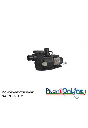POMPA PER FILTRAZIONE PISCINA IN PP E FIBRA DI VETRO DA - 3 E 4 - HP MONOFASE/TRIFASE