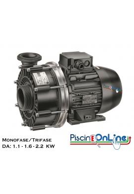 POMPA PER IDROMASSAGGIO E NUOTO CONTRO CORRENTE DA 1.1 - 1.6 - 2.2 KW MONOFASE/TRIFASE