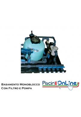 BASAMENTO PER MONOBLOCCO CON FILTRO MEDITERRANEO E POMPA CARRERA - NELLE VERSIONI MONO/TRIFASE - 3 VERSIONI