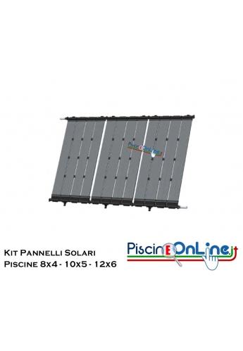 SISTEMA DI RISCALDAMENTO ACQUA PISCINA CON PANNELLI SOLARI IN MATERIALE POLIMERICO - 3 VERSIONI PER PISCINE DA 4X8 A 6X12 MT