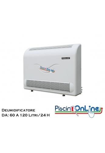 DEUMIDIFICATORE PER PISCINA - 3 VERSIONI CON CAPACITA' DI DEUMIDIFICAZIONE DA 60 - 90 - 120 LITRI/ H24