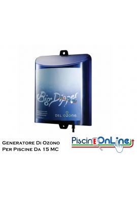 GENERATORE DI OZONO PER PISCINE - INCLUSO KIT DI INSTALLAZIONE - PER PISCINE FINO A 15 MC