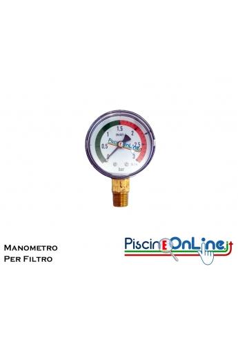 MANOMETRO PER FILTRO PISCINA - MODELLO UNIVERSALE