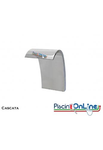 CASCATA DECORATIVA IN ACCIAIO INOX 316 COMPLETA DI ANCORAGGIO