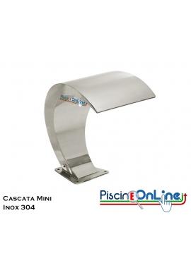 CASCATA A FORMA DI MEZZA LUNA IN ACCIAIO INOX AISI 316 NELLE VERSIONI LUCIDA - OPACA
