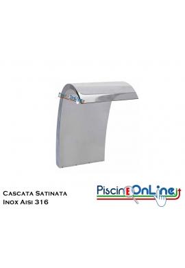CASCATA IN ACCIAIO INOX 316 SATINATO - COMPRESA DI ANCORAGGIO - PORTATA 35 MC/H