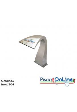 CASCATA PER PISCINA IN ACCIAIO INOX 304 - COMPRESA DI ANCORAGGIO - PORTATA 30 MC/H