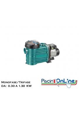 POMPA PER FILTRAZIONE PISCINA ANCHE PER ACQUE SALATE DA - 0.30 A 1.30 KW - MONOFASE/TRIFASE