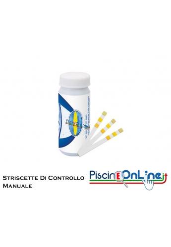 STRISCE PER IL CONTROLLO MANUALE DI CLORO LIBERO - PH - ALCALINITA' TOTALE - ACIDO CIANURICO 50 STRIPS A CONFEZIONE