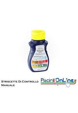 STRISCE PER IL CONTROLLO MANUALE DI MONOPERSULFATO (OSSIGENO ATTIVO) - PH - ALCALINITA' TOTALE / 50 STRIPS A CONFEZIONE