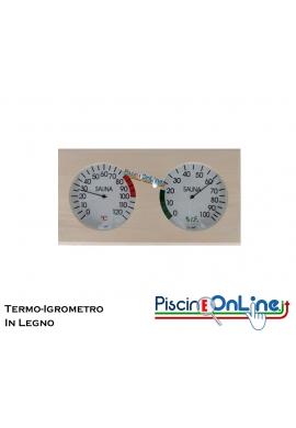 TERMO-IGROMETRO IN LEGNO PER SAUNE E SPA