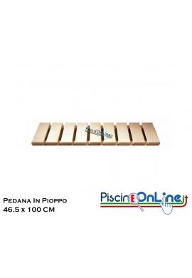 PEDANA IN PIOPPO DA APPLICARE AL PAVIMENTO DELLA SAUNA - MISURE - 46.5 X 100 CM