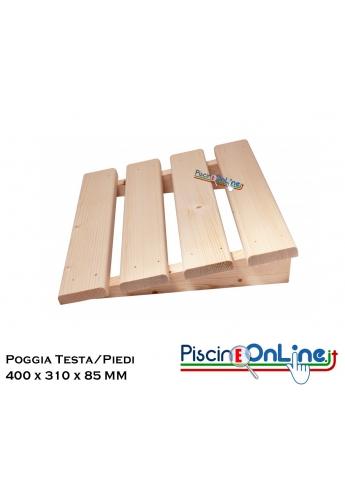 POGGIA-TESTA O PIEDI PER PANCA SAUNA - MISURE 400 x 310 x 85 MM - ACCESSORI PER SAUNE FINLANDESI