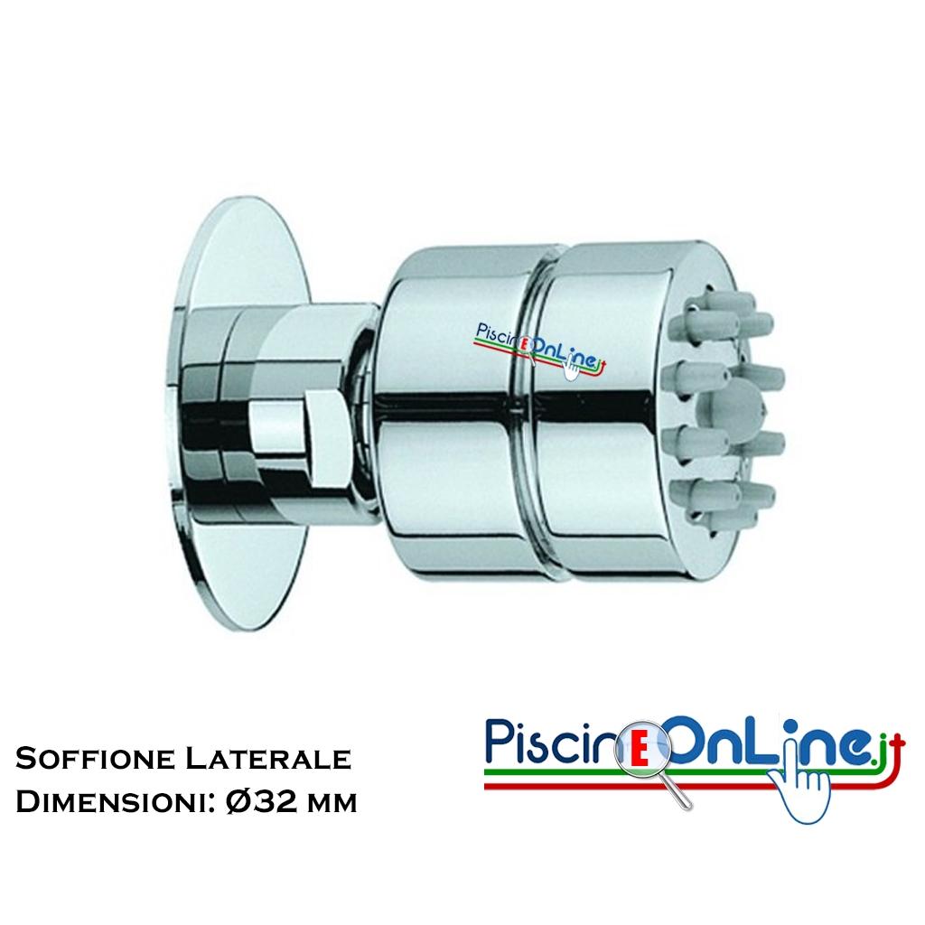 Soffione Doccia In Ottone.Soffione Doccia Laterale In Ottone Cromato Con Ugelli Anticalcare Diametro 32 Mm