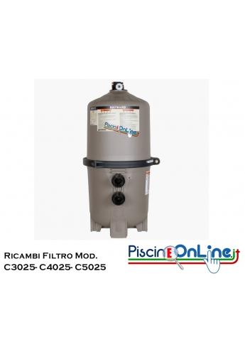 RICAMBI PER FILTRO A CARTUCCIA HAYWARD MODELLI C3025/ C4025/ C5025