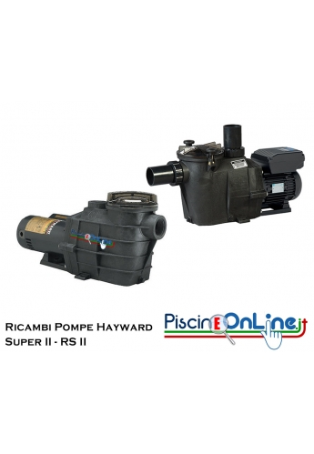 RICAMBI PER POMPA HAYWARD MODELLO SUPER 2 e RS 2