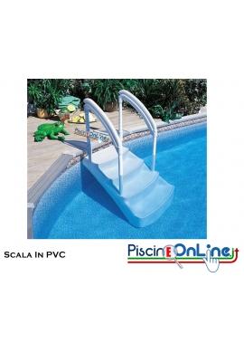 SCALA REMOVIBILE IN PVC RINFORZATO - ADATTA PER PISCINE CON FONDO IRREGOLARE