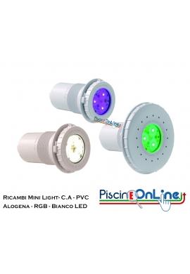 RICAMBI PER PROIETTORE MINI HAYWARD - 3 VERSIONI - ALOGENO, RGB LED, BIANCO LED