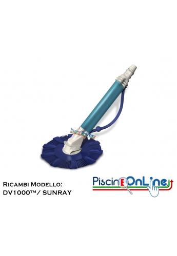 RICAMBI PER PULITORE IDRAULICO HAYWARD MODELLO: DV1000™/ SUNRAY
