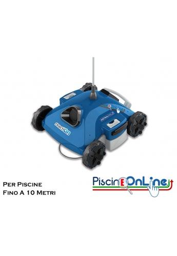 ROBOT PULITORE ELETTRICO PER PISCINE FINO A 60 MC - 2 CICLI DI LAVAGGIO - ESCLUSO PARETI
