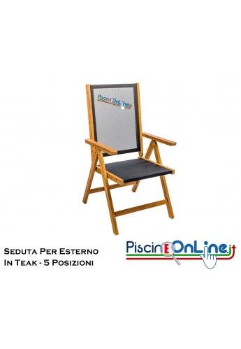 Sedie Per Esterno In Legno.Sedia Per Esterno In Legno Teak Con Seduta Regolabile In 5