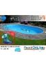 piscina interrata 6.00 x 3.20 altezza h 1.20 mt modello pacific ovale in lamiera