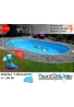 piscina interrata 7.25x4.60 altezza h 1.50 mt modello pacific ovale in lamiera