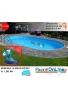 piscina interrata 5.25 x 3.20 altezza h 1.50 mt modello pacific ovale in lamiera