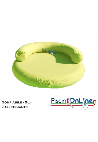 Cuscino xl sagomato gonfiabile e galleggiante in for Cuscini galleggianti piscina