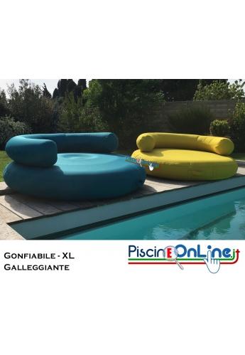 CUSCINO - XL - SAGOMATO GONFIABILE E GALLEGGIANTE IN MATERIALE IMPERMEABILE - PER GIARDINI E PISCINE