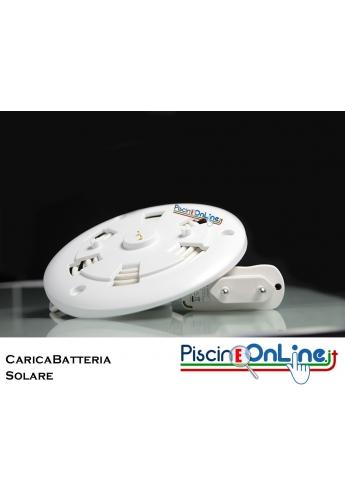 CARICABATTERIE SOLARE CON PANNELLO FOTOVOLTAICO, BUSSOLA E PIEDI DI FISSAGGIO - PER LAMPADE PROLITE