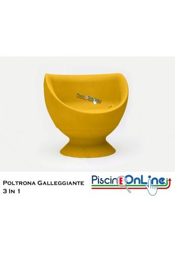 POLTRONA 3 IN 1 SENZA LUCI - IN POLIETILENE LEGGERA, MODULARE E GALLEGGIANTE - IN 10 COLORI