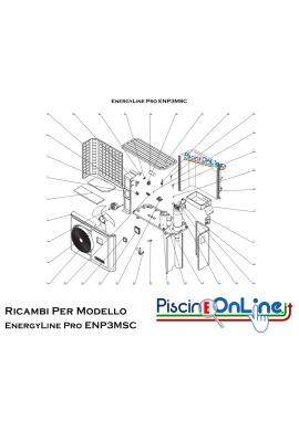 RICAMBI PER POMPA DI CALORE HAYWARD - EnergyLine Pro ENP3MSC