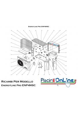 RICAMBI PER POMPA DI CALORE HAYWARD - EnergyLine Pro ENP4MSC